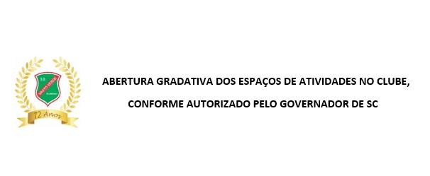 ABERTURA GRADATIVA DOS ESPAÇOS DE ATIVIDADES NO CLUBE A PARTIR DE 22 DE ABRIL