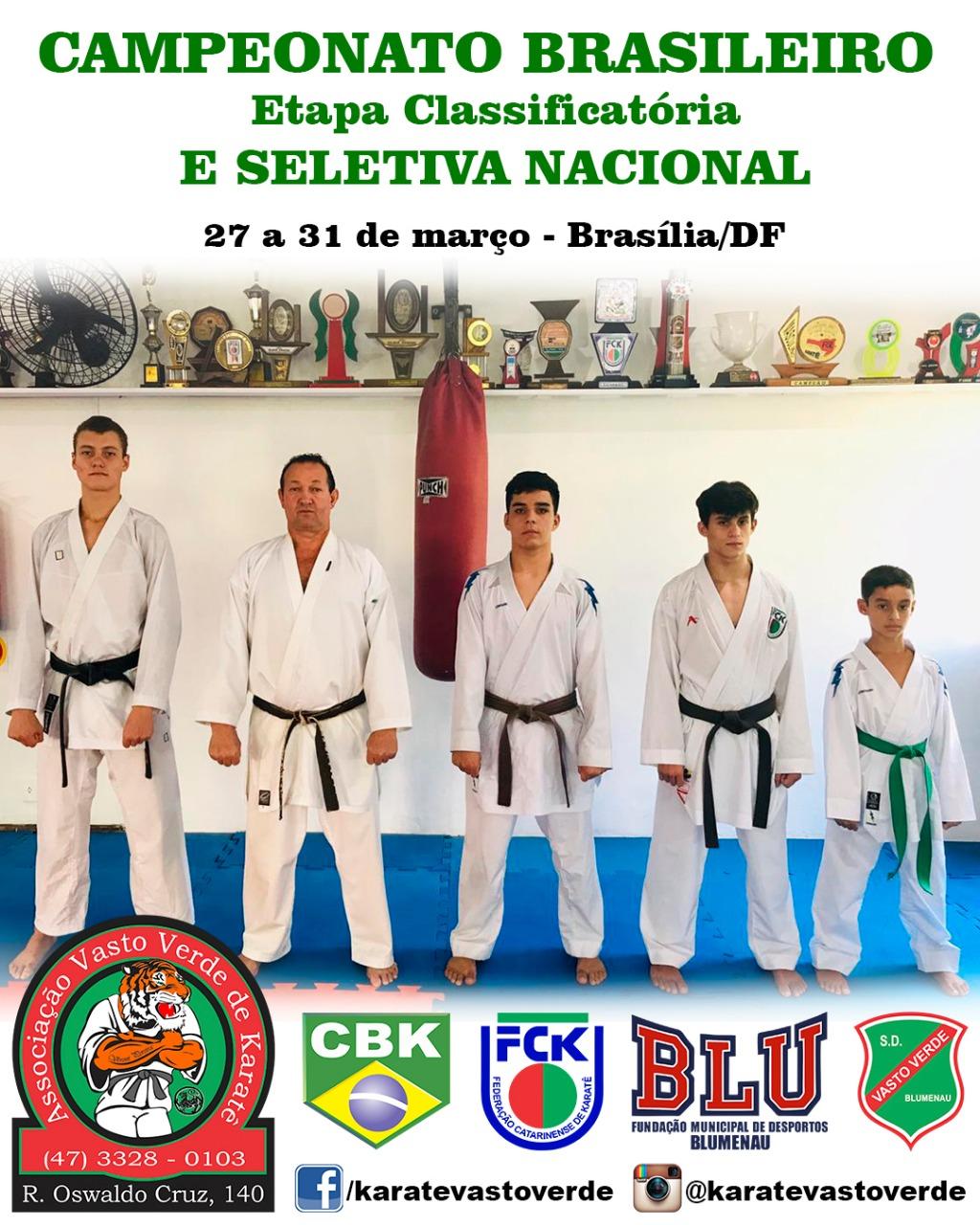 CAMPEONATO BRASILEIRO DE KARATÊ 1ª etapa classificatória - Brasília/DF