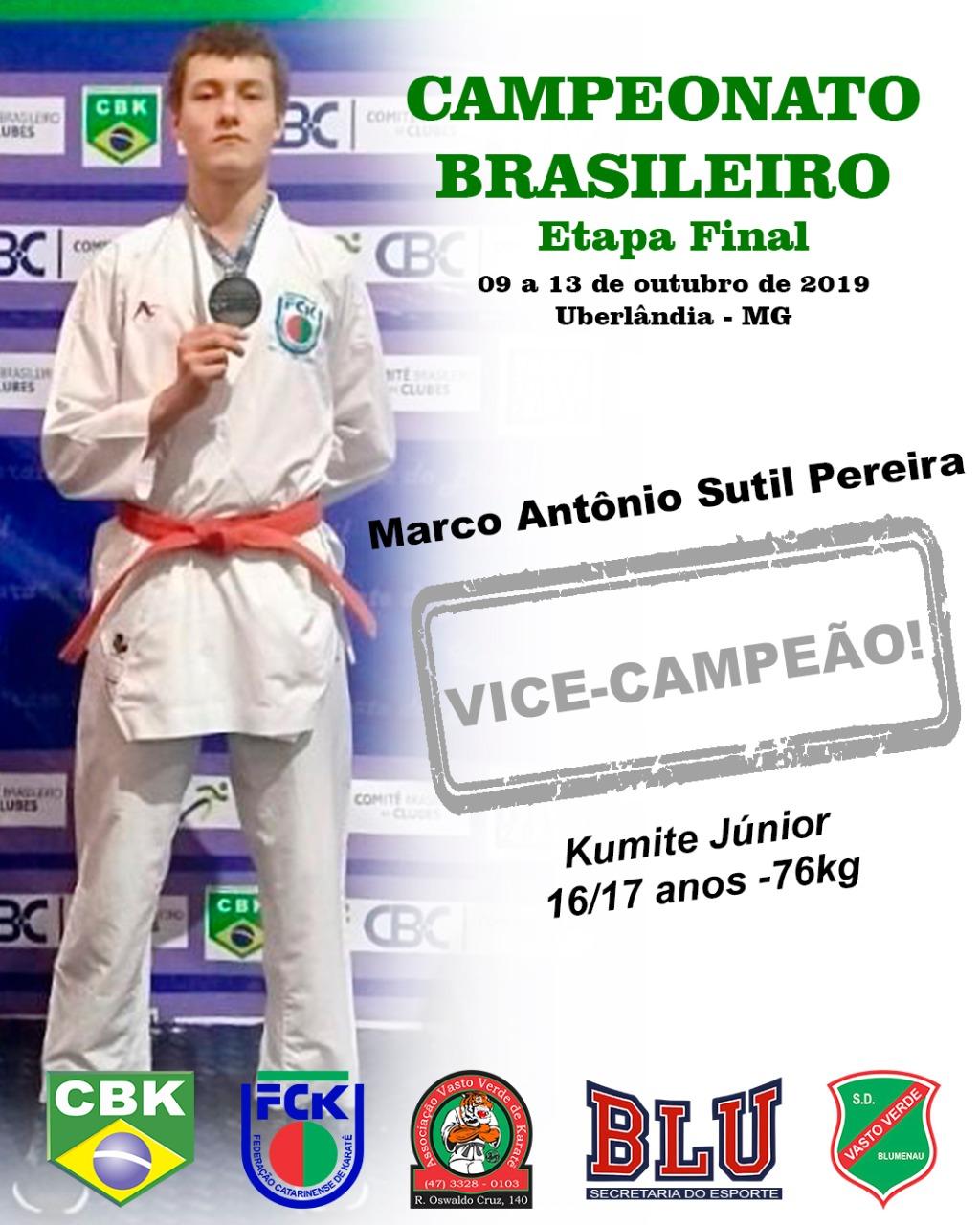 Vasto Verde conquista medalhas no Campeonato Brasileiro de Karatê!