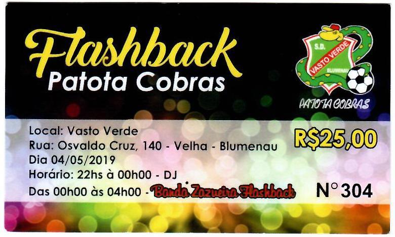 FLASHBACK PATOTA COBRAS 04/05/2019