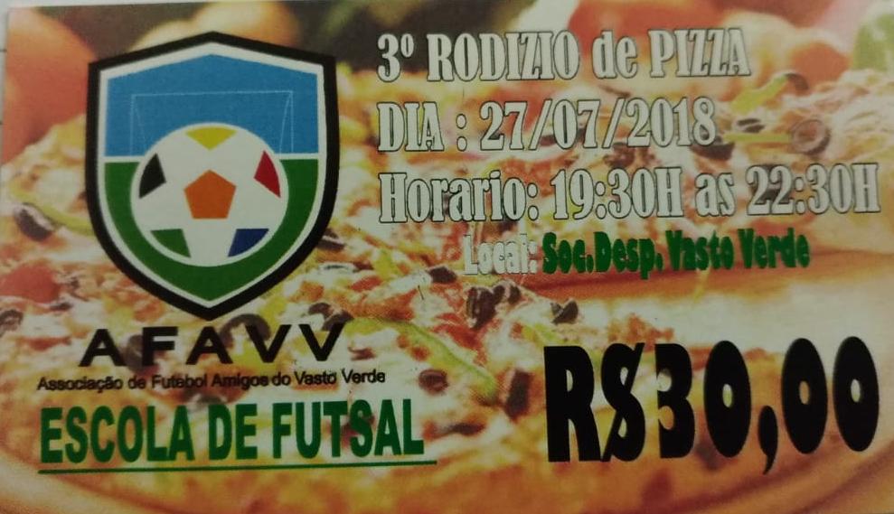 3º Rodizio de Pizza - Escola de Futsal