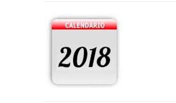 CALENDÁRIO 2018 - VASTO VERDE