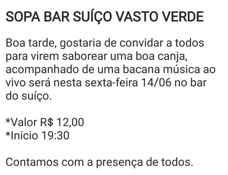 SOPA BAR SUIÇO VASTO VERDE